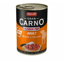 Animonda GRANCARNO® dog adult hovädzie a kura 400g konzerva