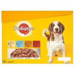 Mars PEDIGREE kapsička dog ADULT Multipack kuracie & jahňacie & hydinové & hovädzie mäso v želé 12 x 100 g