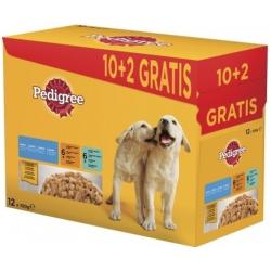 Mars PEDIGREE kapsička dog JUNIOR kuracie & jahňacie & hydinové & hovädzie s ryžou v želé 12 x 100 g