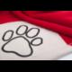 Deka pre psa červená