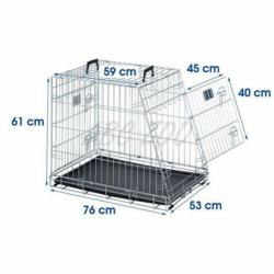 Klietka SAVIC Residence Mobile pre psa kovová 76 cm