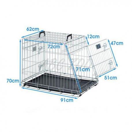 Klietka SAVIC Residence Mobile pre psa kovová 91 cm