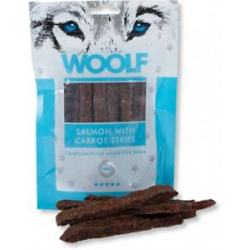 Pamlsok Woolf Dog Salmon & Carrot Strips 100 g