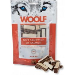 Pamlsok Woolf Dog Salmon Soft Sandwich 100 g