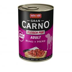 Animonda GRANCARNO® dog adult hovädzie a srdiečka 800g konzerva