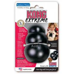 Hračka Kong guma Extreme Granát čierny M 5 - 15 kg