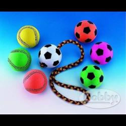 Hračka Nobby guma mech. lopta futbalová neón. 6 cm