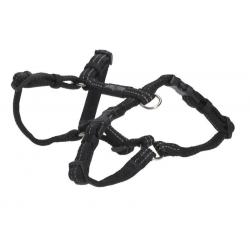 Postroj BUSTER s reflexným vláknom, 1,5x30-50cm, čierny