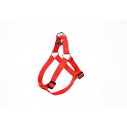 Postroj DUVO+ nylon červený 30-40 cm/ 10 mm