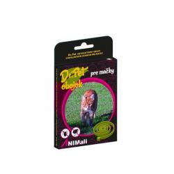 Obojok Dr.Pet pre mačky 35 cm antiparazitárny HNEDÝ s repelentným účinkom (tick and flea repellent collar for cats)