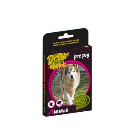 Obojok Dr.Pet pre psy 75 cm antiparazitárny BIELY s repelentným účinkom (tick and flea repellent collar for dogs)