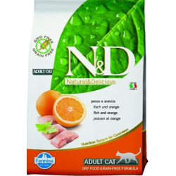 Farmina N&D cat GF adult fish&orange