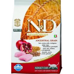 Farmina N&D cat LG adult chicken, spelt, oats&pomegranate