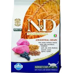 Farmina N&D cat LG adult lamb, spelt, oats&blueberry