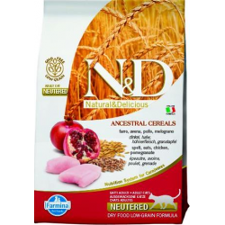 Farmina N&D cat LG Neutered chicken&pomegranate 1,5 kg