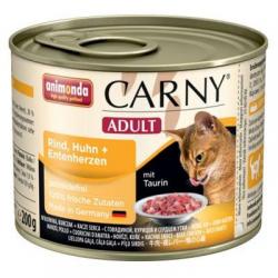 Animonda CARNY® cat Adult hovädzie,kura a kačacie srdiečka konzerva