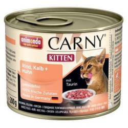 Animonda CARNY® cat Kitten hovädzie,teľacie a kura 200 g konzerva