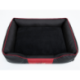 Pelech pre psa CESAR EXCLUSIVE čierny s červeným lemom