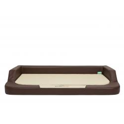 Ortopedický pelech pre psa MEDICO LUX hnedý s béžovým matracom