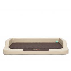 Ortopedický pelech pre psa MEDICO LUX béžový s hnedým matracom