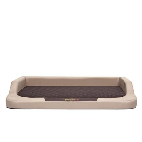 Ortopedický pelech pre psa MEDICO béžový s hnedým matracom