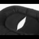 Oválny pelech pre psa PRESTIGE čierny s labkami