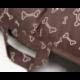 Oválny pelech pre psa PRESTIGE hnedý s kostičkami