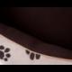 Pelech pre psa NEW YORK béžový s labkami