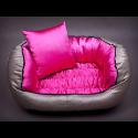 Pelech pre psa NEW YORK lesklý ružový